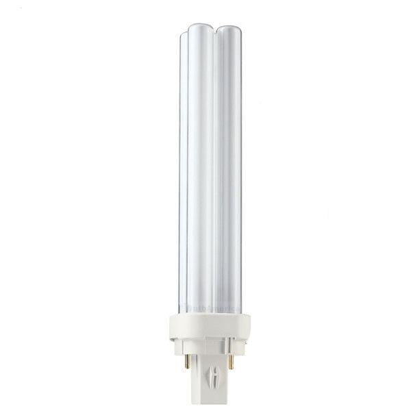 Philips PL-C 21w/830 G24D-3 3000K Double Tube Warm White CFL Bulb