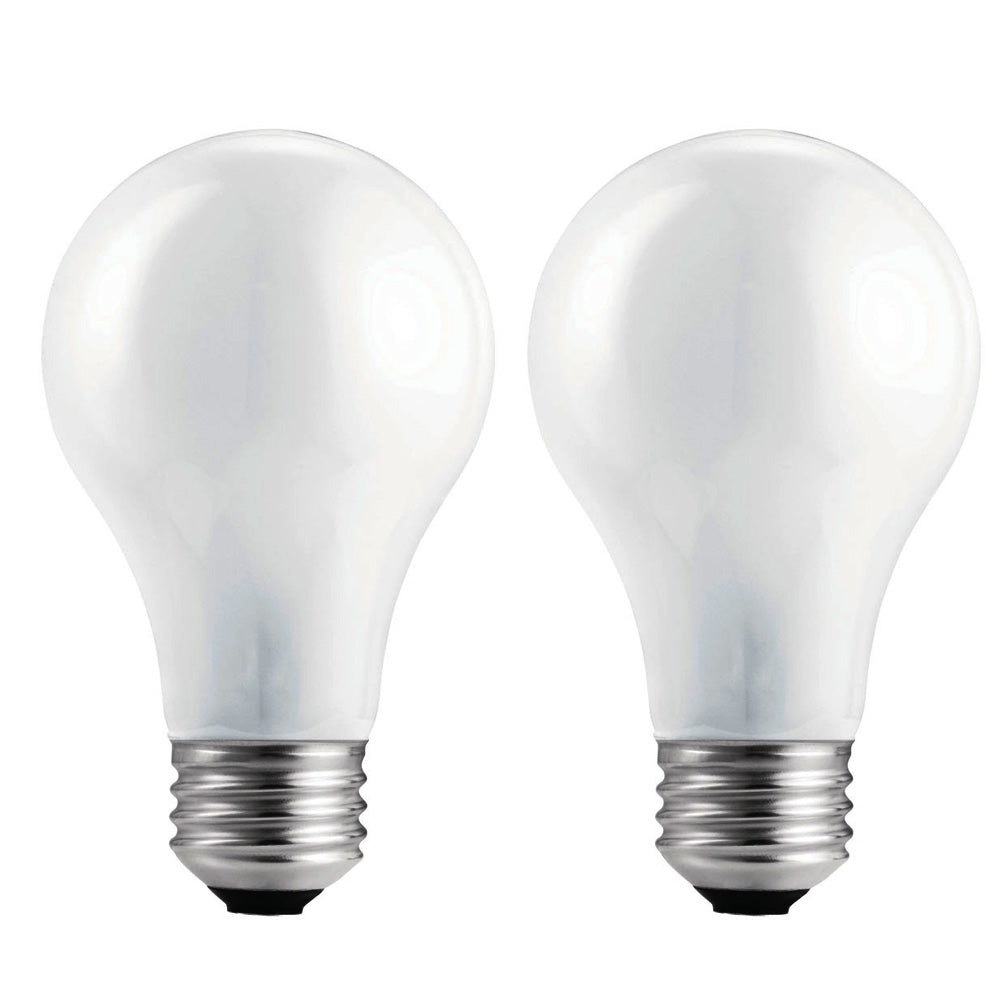 Philips 60w 130v A19 Frosted E26 2740K Incandescent - 2 Light Bulb