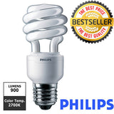 PHILIPS 13W 2700k Soft White 10000Hrs CFL Twist Light Bulb - 60 watt Replacement - BulbAmerica