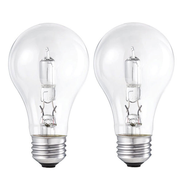2 Pk. - Philips 29w 120v A19 Clear E26 EcoVantage Halogen Light Bulb