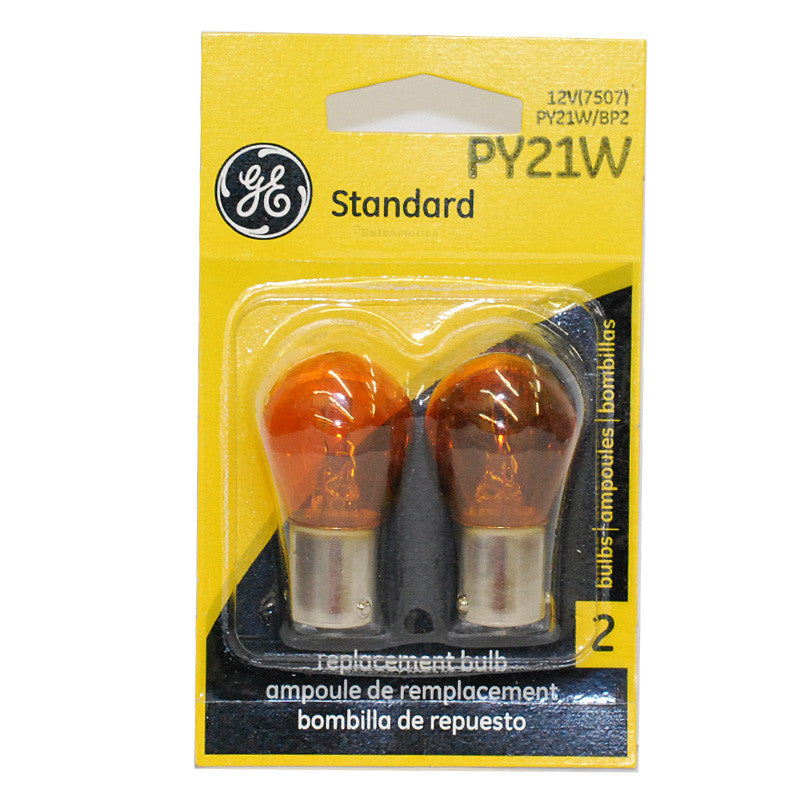 GE PY21W 25w 13.5v S8 Automotive lamp - 2 Bulbs
