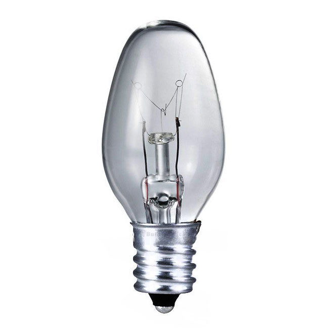 Philips 4w 120v C7 E12 Clear Night Light Incandescent Light Bulb - 4 pack