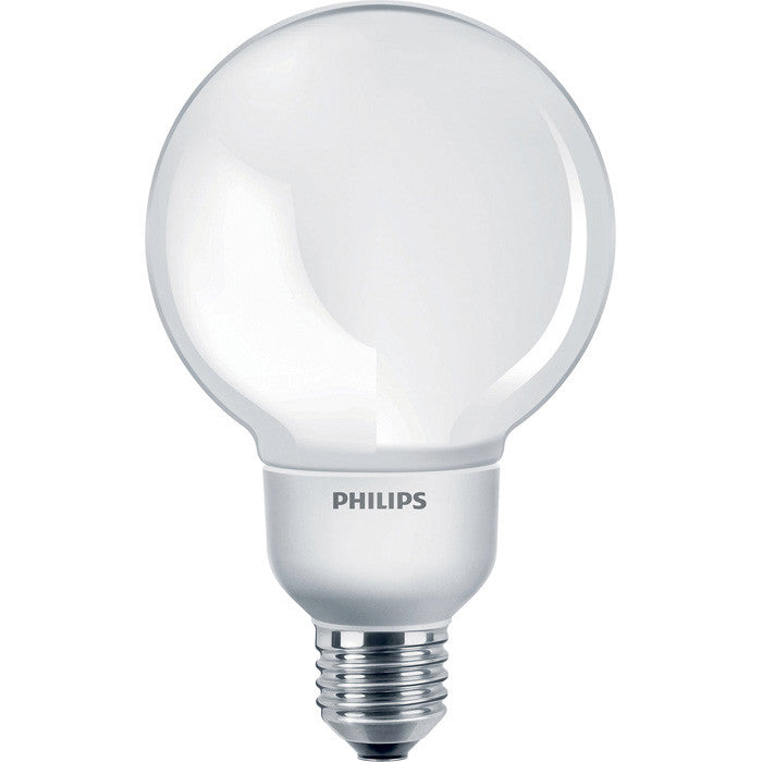 Philips 9w EL/A Globe G25 E26 2700k Warm White Fluorescent Light Bulb