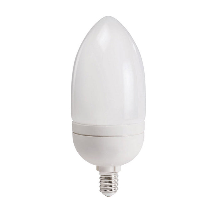 Philips 9w 120v Candelabra E12 Soft White 2700k Compact Fluorescent Light Bulb