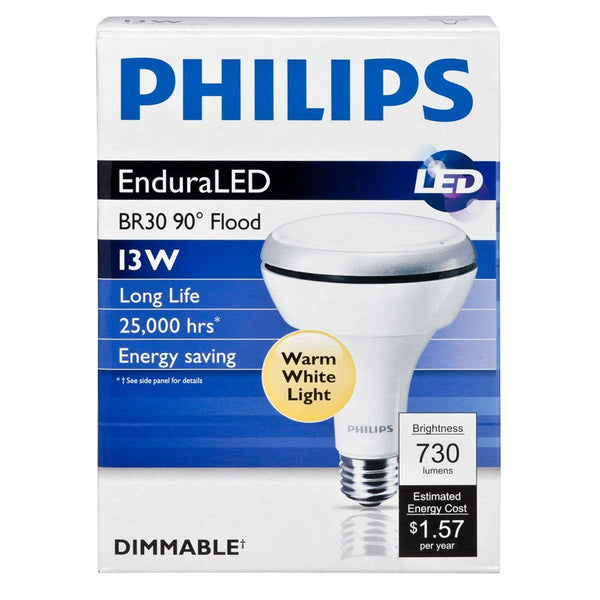 Philips 13w 120v Br30 2700k Enduraled Dimmable Airflux