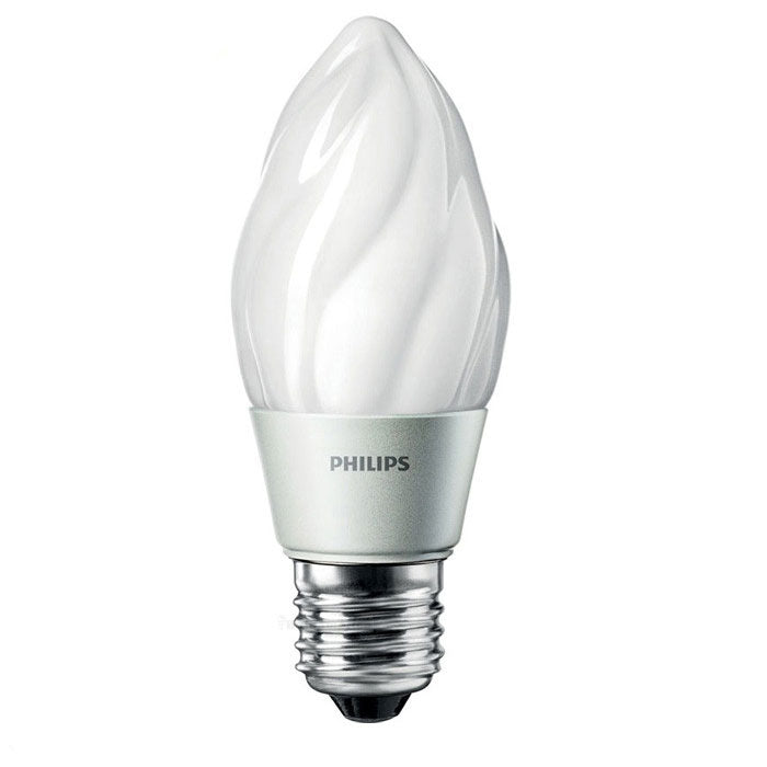 Philips 4w Flame Dimmable LED Frosted Warm White 2700K Light Bulb