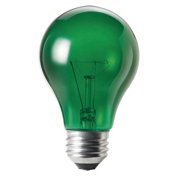 Philips 427575 25w 120v A-Shape A19 Transparent Green Incandescent Light Bulb