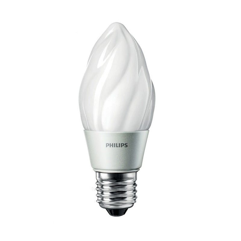 Philips 4.5w Flame Dimmable LED Frosted Warm White 2700K Light Bulb