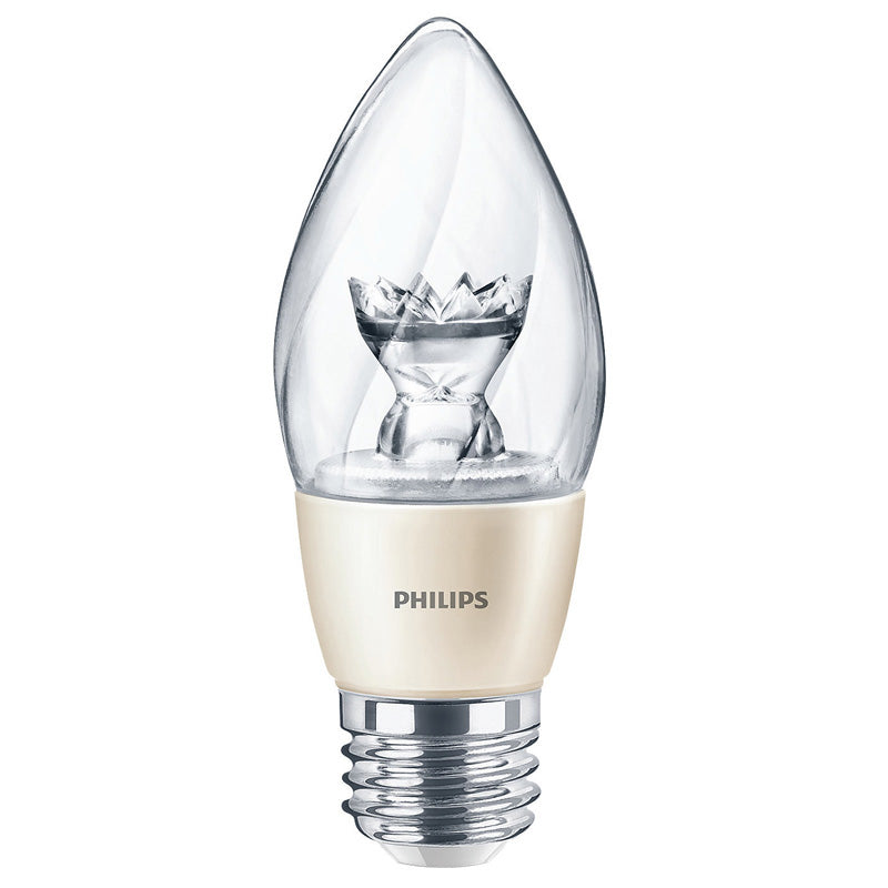 Philips Diamond Spark 6.5W B13 LED 2700K Warm White E26 Dimmable Bulb