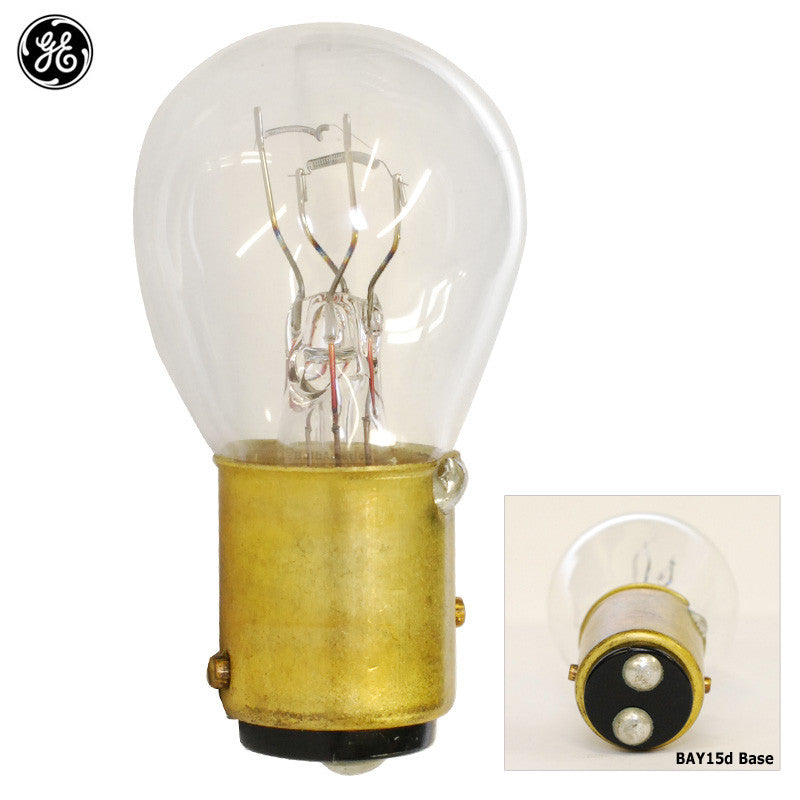 GE 44760 2057 - 27w S8 BAY15d 12.8v Miniature Automotive Light Bulb