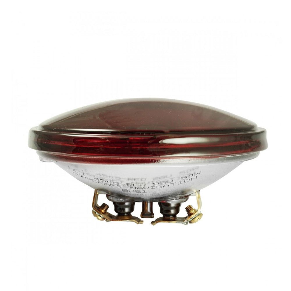 4505-RED - 50w 28v PAR36 Red Sealed Light Bulb