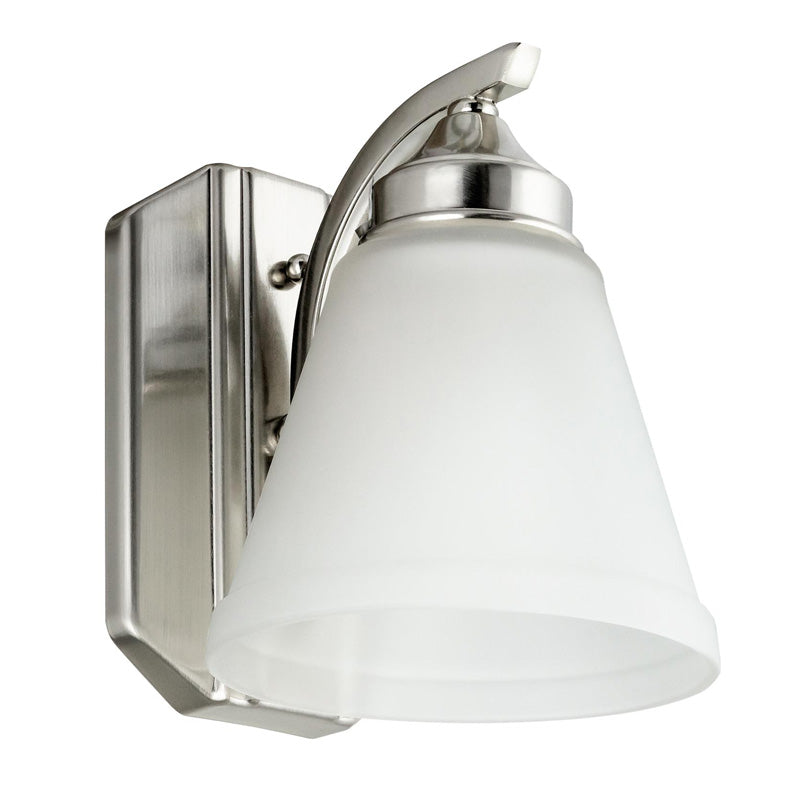 SUNLITE 1 light Brushed Nickel Vanity Fixture - 100 Watts Max