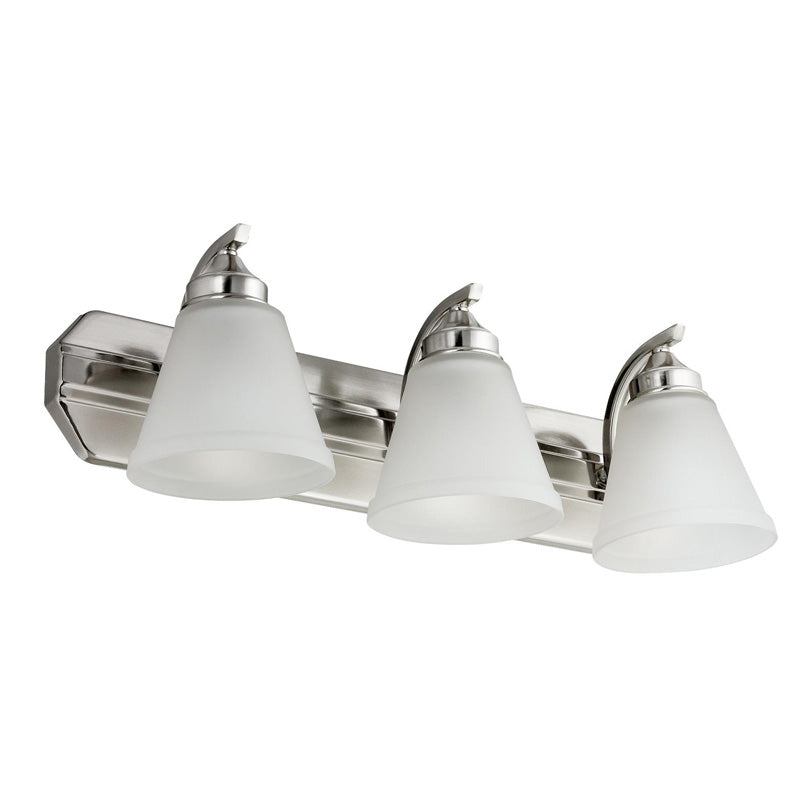 SUNLITE 3-light Brushed Nickel Vanity Fixture - 100 Watts Max
