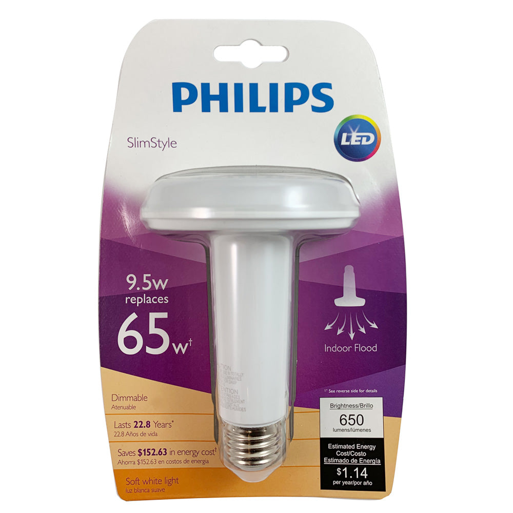 Philips Slimstyle 9 5w Br30 Led Soft White Dimmable Bulb