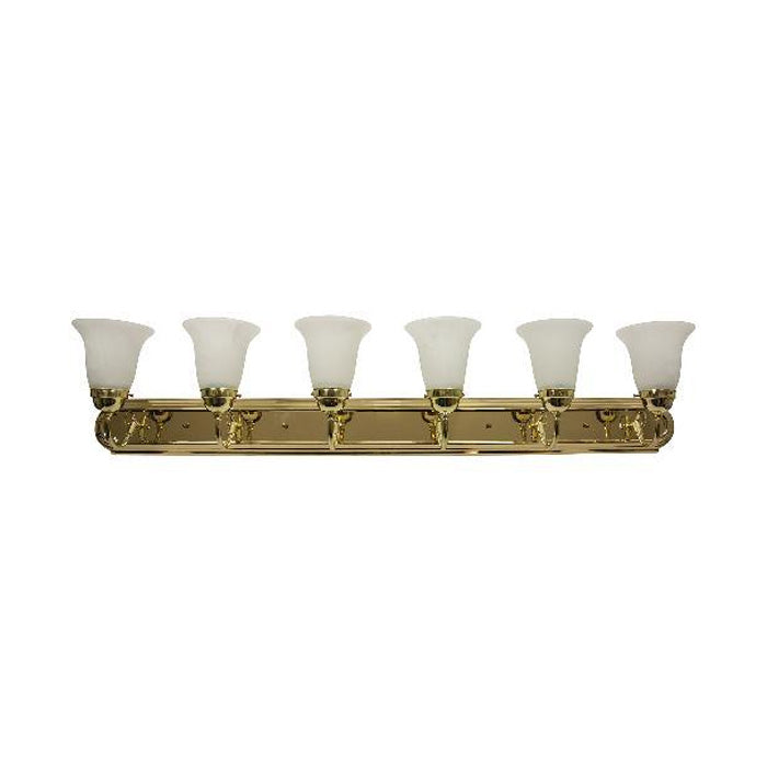 Sunlite B648D/PB/AL 6 light 60w 48 inch polished brass bath fixture