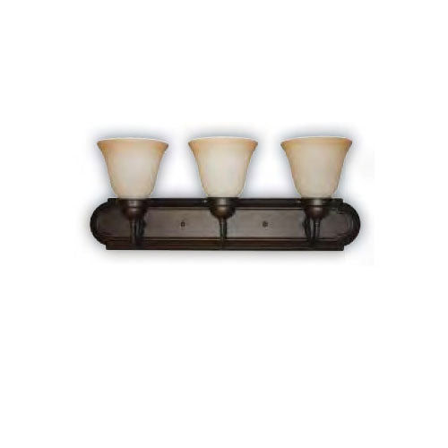 Sunlite B324DB/TS 60w 3 light 24 inch tea stain wall sconce a19 fixture