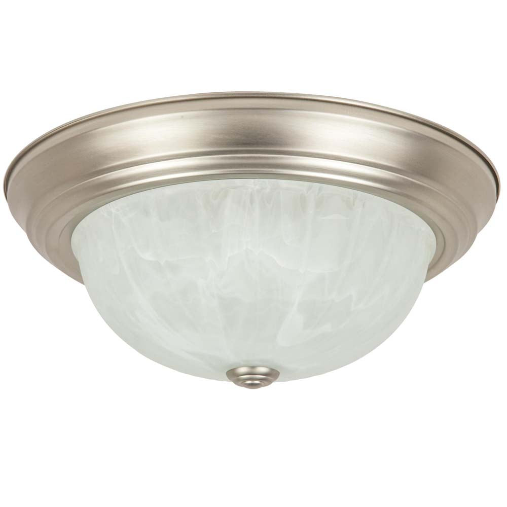 "Sunlite 45505-SU 21"" Round Incandescent Dome Fixture Brushed Nickel"