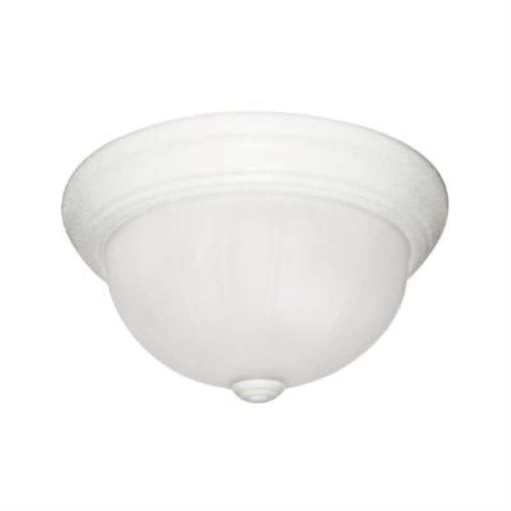 "Sunlite 45515-SU 13"" Round Fluorescent Dome Fixture Smooth Surface White"