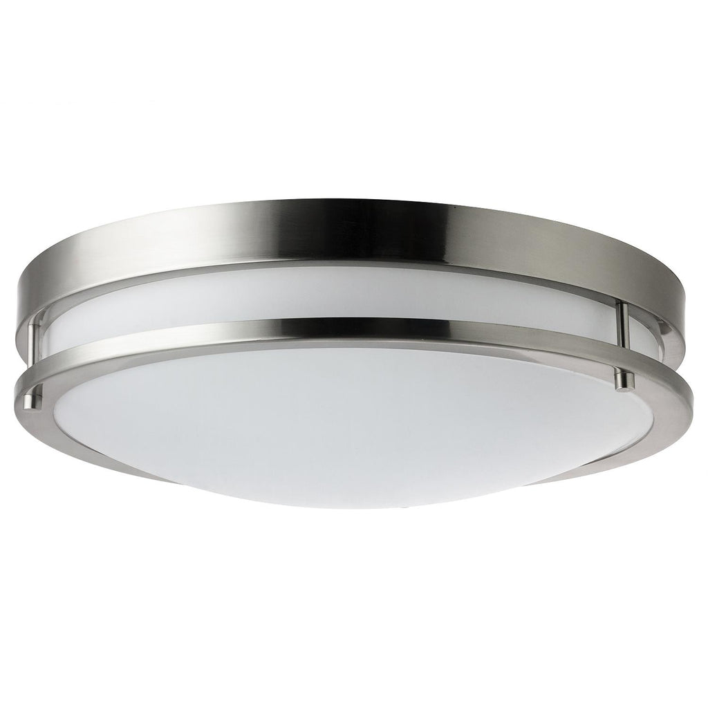 Sunlite 45615-SU 15w Motion Sensor Light Fixture in Brushed Nickel - 4000K
