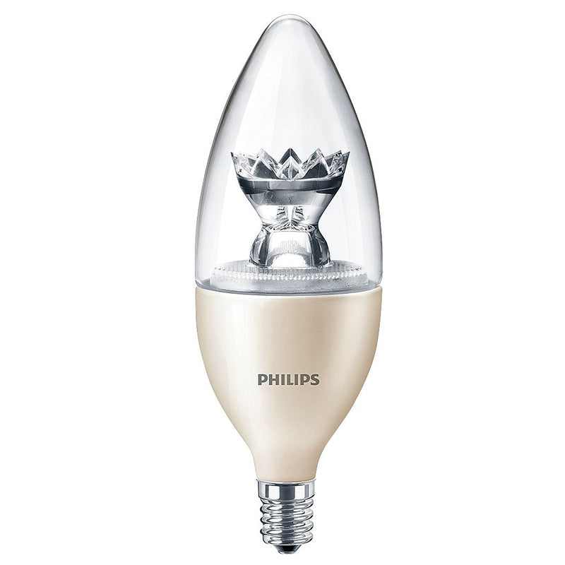 Philips 3.5W B12 E12 Candelabra Screw LED Dimmable Warm Glow Light Bulb