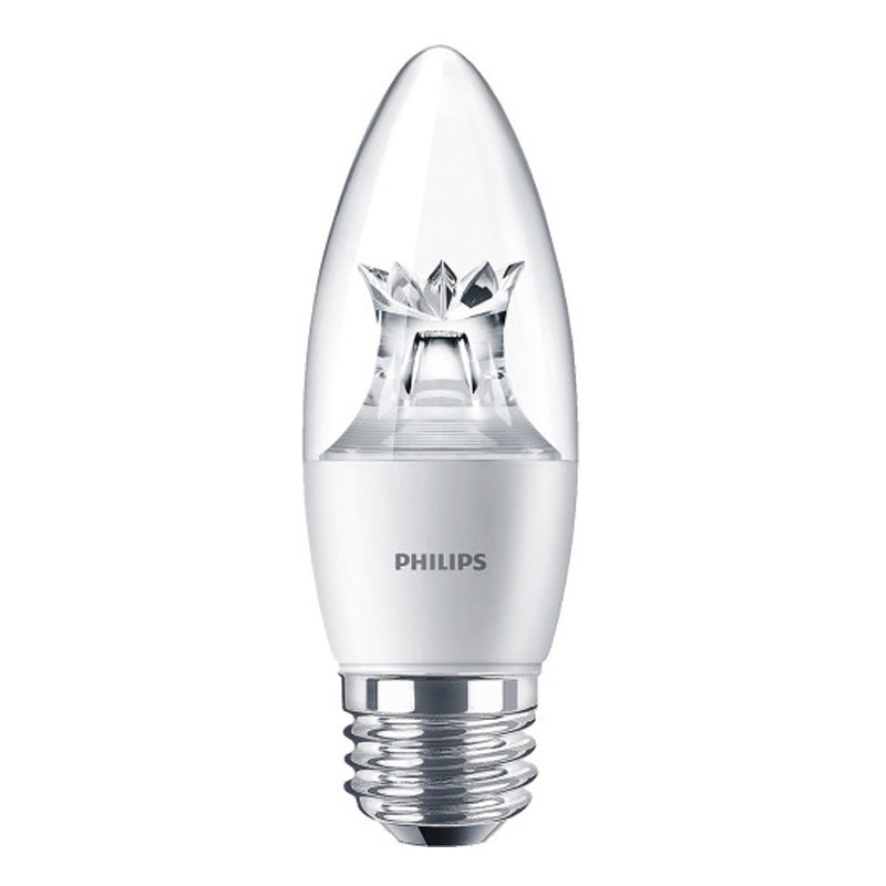Philips 7W B12 E26 Medium Screw LED Dimmable Warm Glow Light Bulb