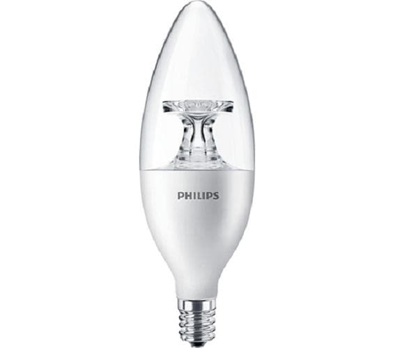 Philips 4.5W 120v LED Non-Dimmable B11 Candelabra Bulb - 40w equiv.