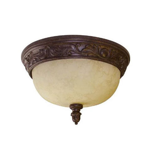 SUNLITE DAB13/TS Antique Brown / Tea Stained Glass Fixture