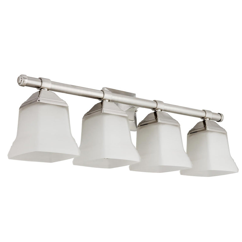 SUNLITE 4-light Squared Brushed Nickel Vanity Fixture - 100 Watts Max