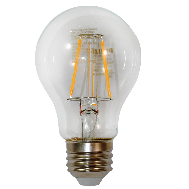 Philips Antique LED Filament 4.5w A19 2000k Warm White 60w equivalent vintage bulb