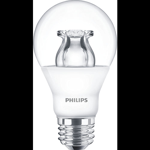 Philips 6w Dimmable LED A19 E26 Base Clear Warm Glow Bulb - 40w equiv.