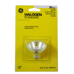 GE 20W 12V ESX MR16 Narrow Spot GU5.3 Halogen Light Bulb