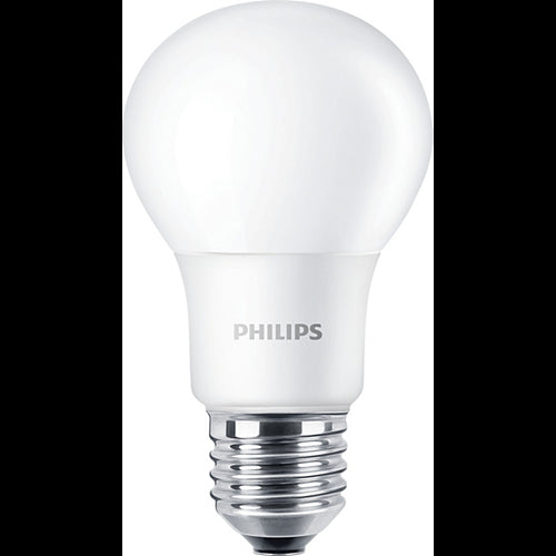 Philips 8W Non-Dimmable LED A19 Shape Frosted Finish Bulb - 60w equiv.