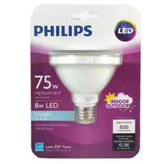 Philips 8W PAR30S LED 5000K Daylight Indoor Outdoor Flood Bulb