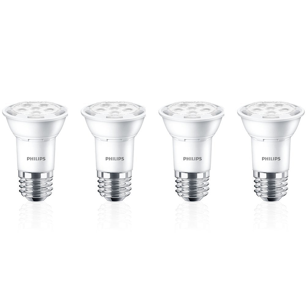 4Pk - PHILIPS AmbientLED 7W PAR16 Dimmable Bright White 3000K Flood Light Bulb