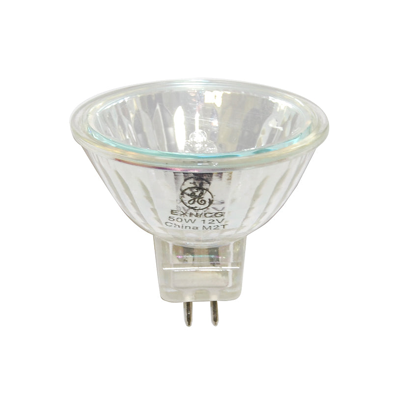 Ge 50w 12v Exn Mr16 Flood With Front Glass Gu5 3 Halogen Light Bulb Bulbamerica