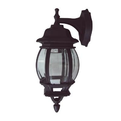 SUNLITE Down-Facing Carriage Outdoor Fixture - Black with Clear Beveled Glass