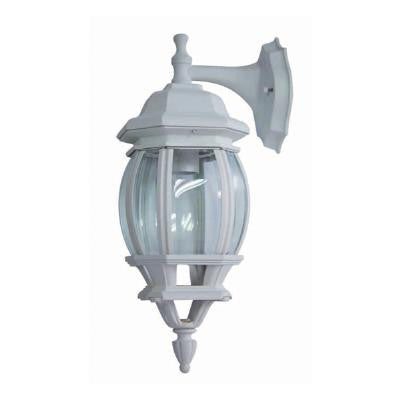 Sunlite ODI1080 bvld glass white wall mount down outdoor fixture