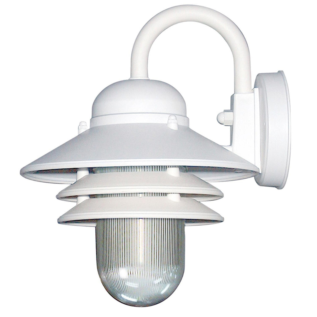 SUNLITE E26 Nautical Style White Outdoor Wall Lighting Fixture