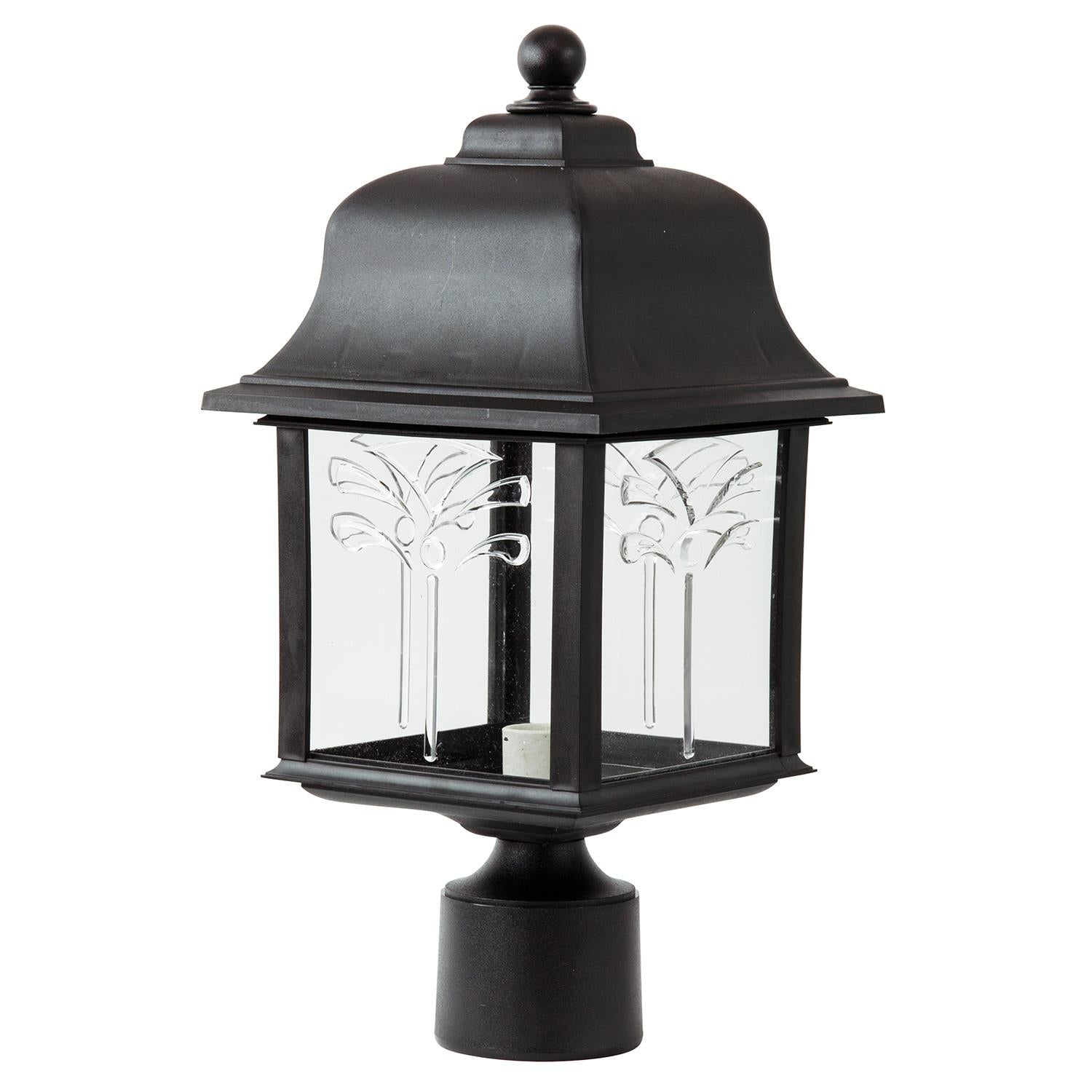 SUNLITE E26 Orchid Style Collection Black Outdoor Post Lights