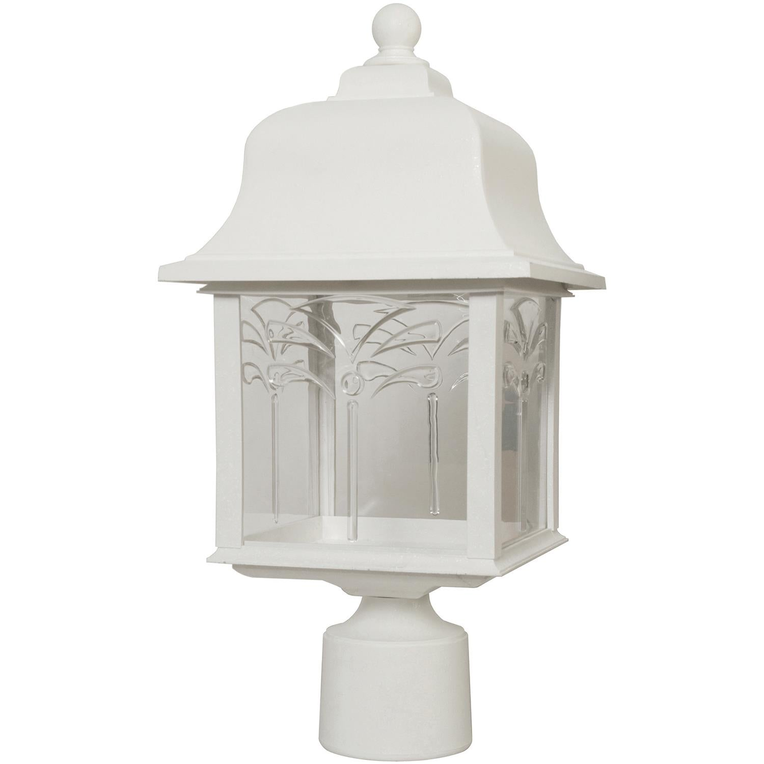 SUNLITE E26 Orchid Style Collection White Outdoor Post Lights