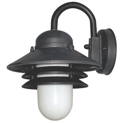 SUNLITE Twist & Lock (GU24) Nautical Style Black Outdoor Wall Lighting Fixture