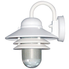 SUNLITE Twist & Lock (GU24) Nautical Style White Outdoor Wall Lighting Fixture