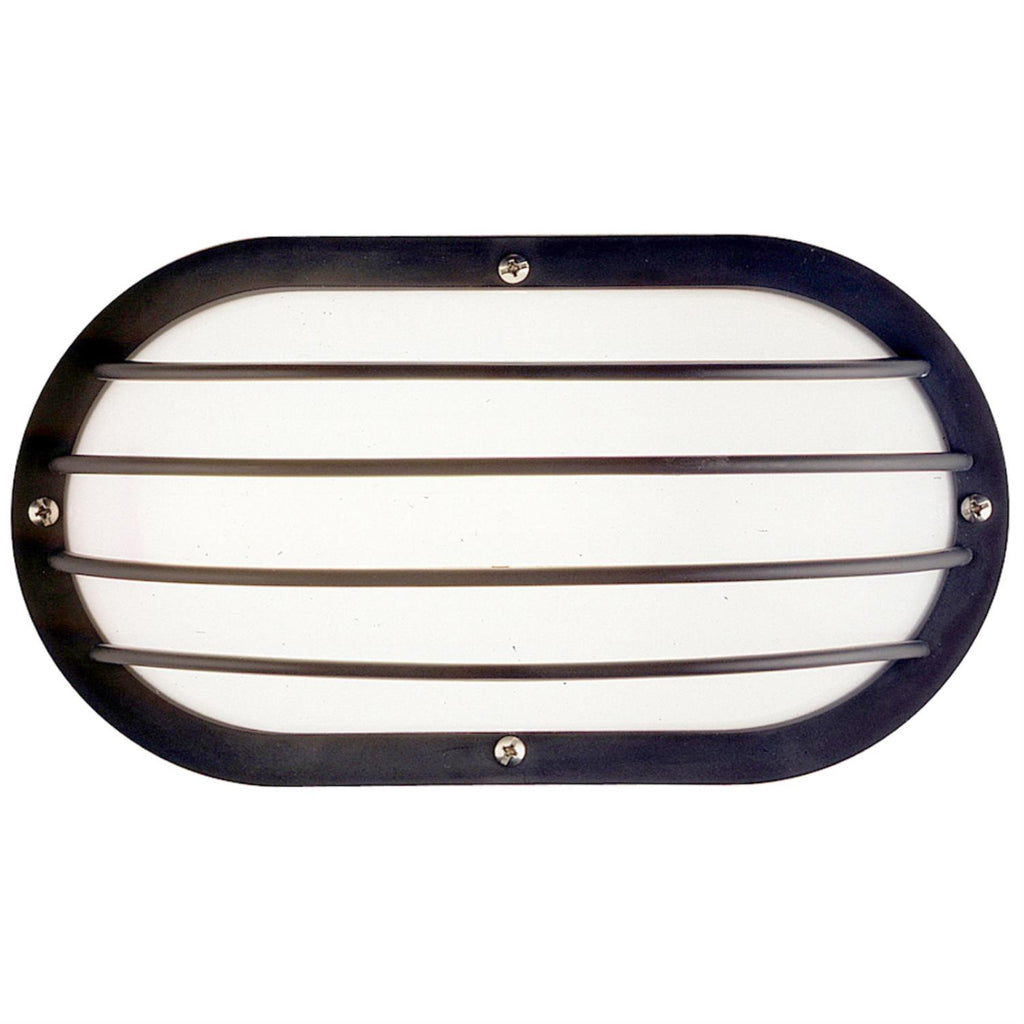 SUNLITE GU24 Eurostyle Oblong Linear Black Outdoor Wall Lighting Fixture