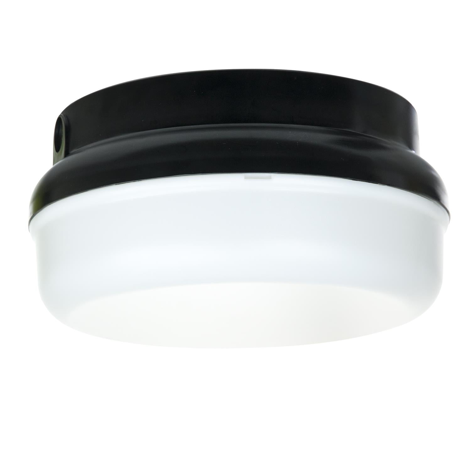 Sunlite 48216-SU Decorative Energy Saving Protek Round Fixture in Black Finish