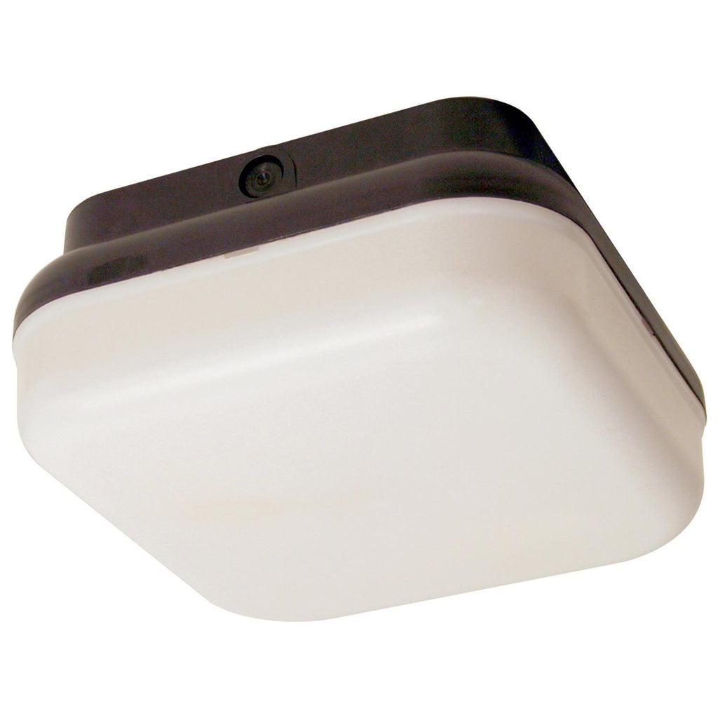 SUNLITE 14w Black Square Protek Outdoor LED Light Fixture - 4000K