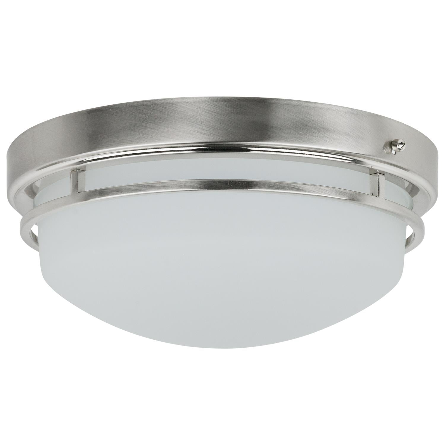SUNLITE 23w Frosted LED Flush Mount Fixture - 3000K Warm White
