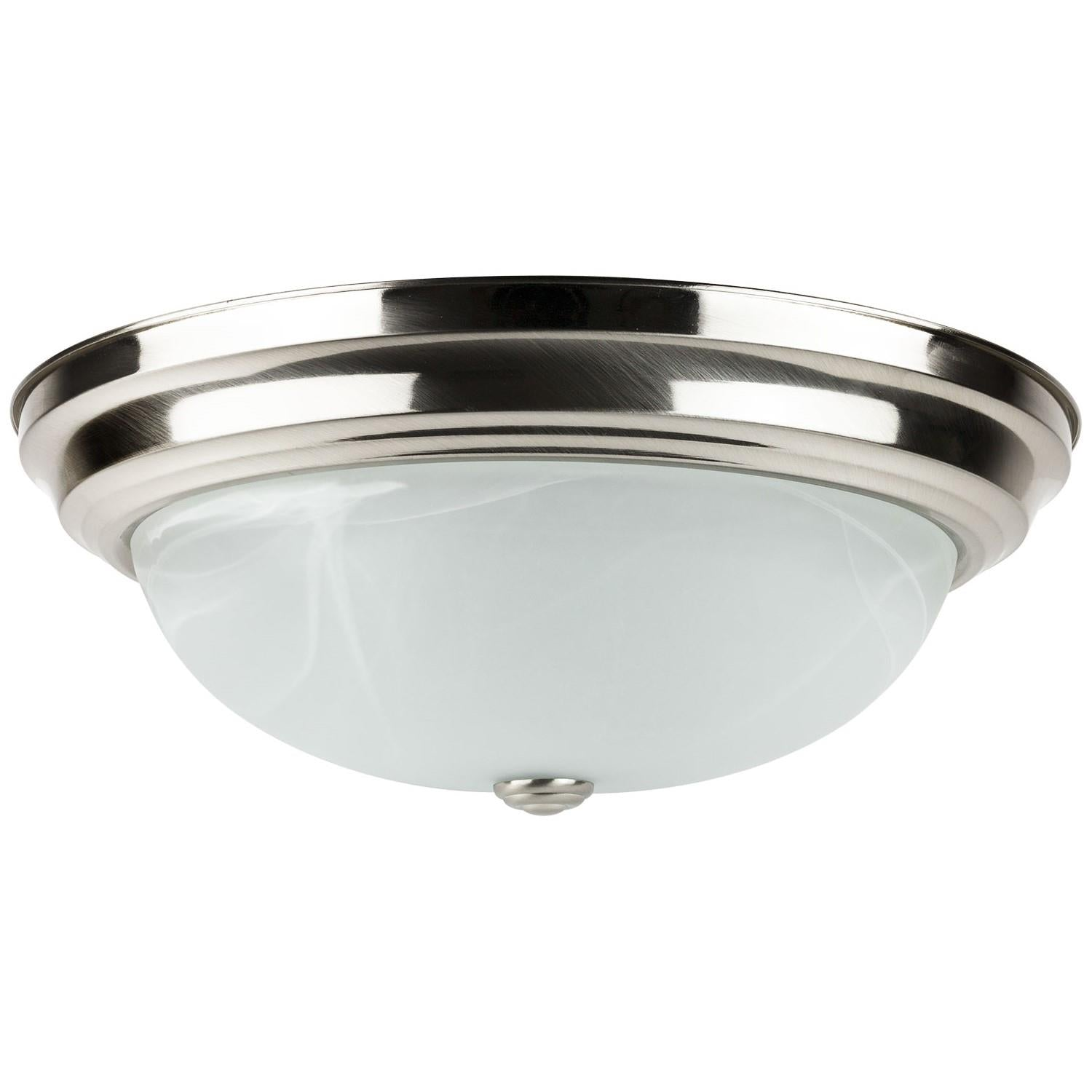 SUNLITE 15in 23w Decorative Dome Style 3000K in Brushed Nickel Finish