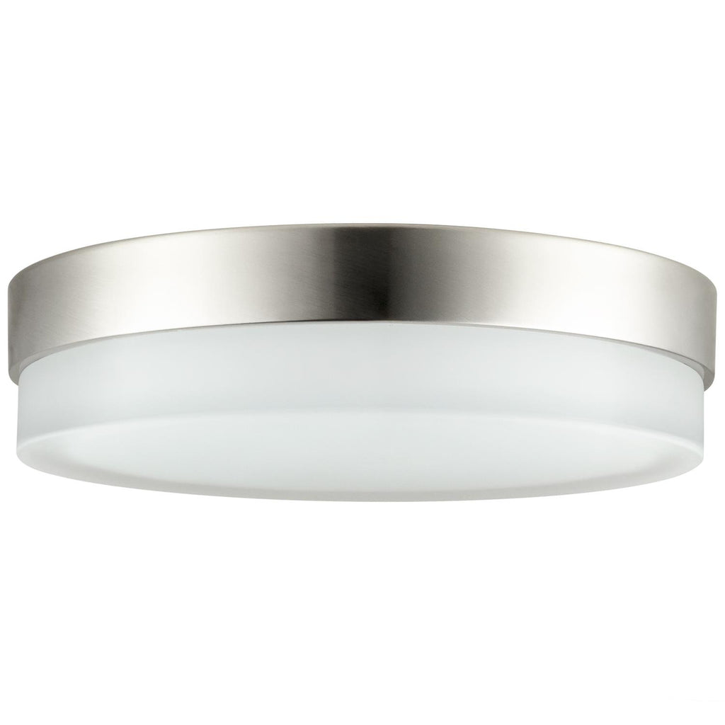 SUNLITE 20w Flush Mount Light Fixture in Brushed Nickel - 3000K