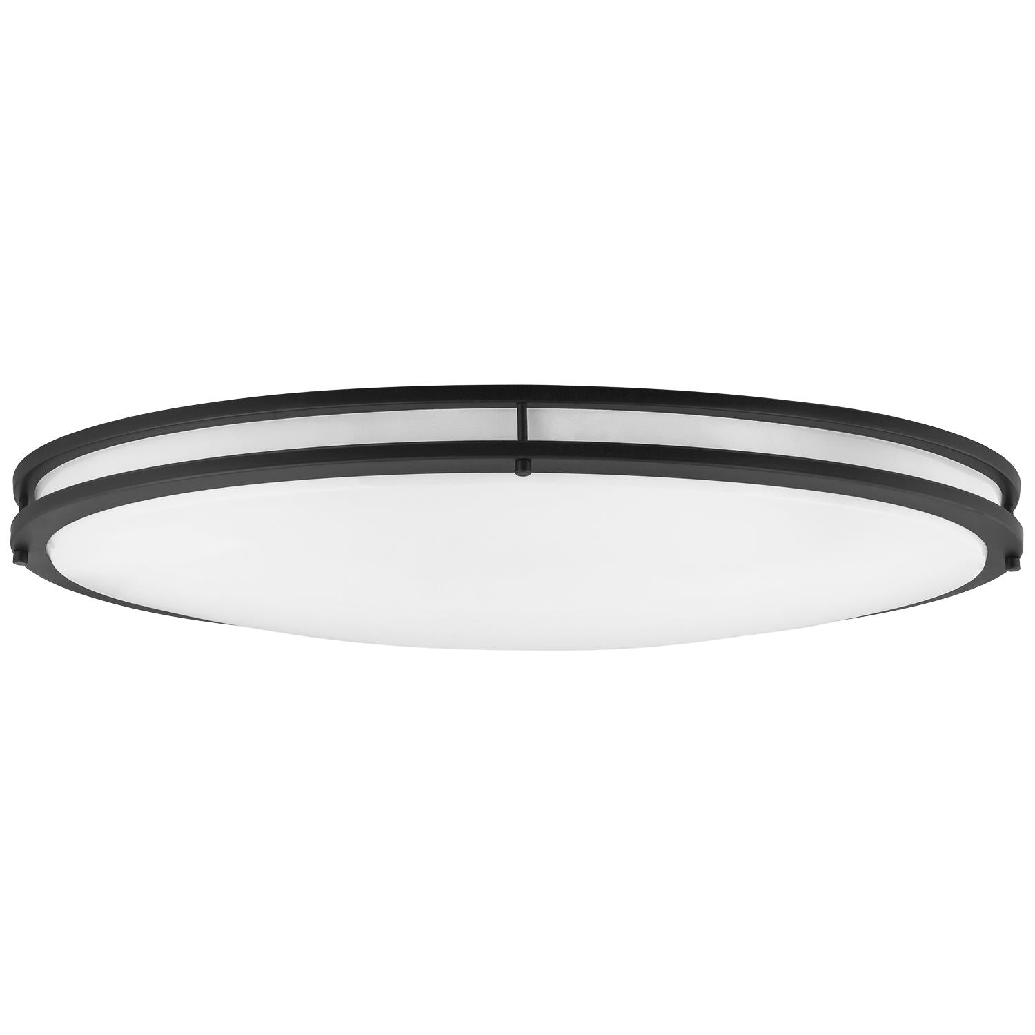 "Sunlite 49095-SU 35w 32"" LED Oval Flush Mount Fixture in Black Finish 3000k"