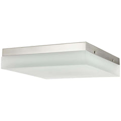 "Sunlite 49099-SU 12"" Square  Solid Band Fixture 2700K Warm White Brushed Nickel"